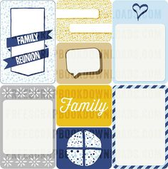 Free Family Reunion Journal Cards
