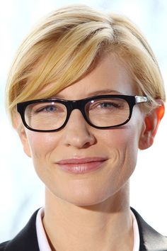 The Hottest Celebrity Glasses: 35 Frames You Need To Be Wearing: Cate Blanchett. For more ideas click the picture or visit www.sofeminine.co.uk