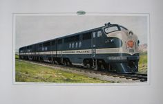 1940's GM Vintage Missouri Pacific Railroad Train Poster Print