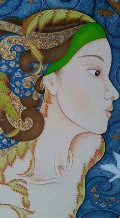My work#tutsak#minyatüre#illustrations portre#acrylic#watercolor#Gold#Ayasofya#Galatakulesi#Kızkulesi#portre#aşk#love♥♥♥