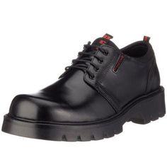 Dockers 23DA005 - Zapatos de Cordones de Cuero para Hombre, Color Marrón (Cafe 320), Talla 42