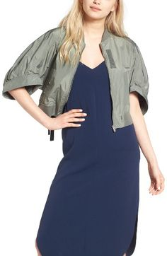 KUHO KUHO Crop Bomber Jacket available at #Nordstrom