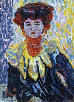 1906 Ernst Ludwig Kirchner (German Expressionist, 1880-1938) Doris with a Ruffled Collar