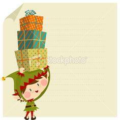 Elf christmas card Royalty Free Stock Vector Art Illustration