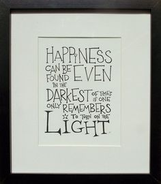 Harry Potter quote - hand drawn