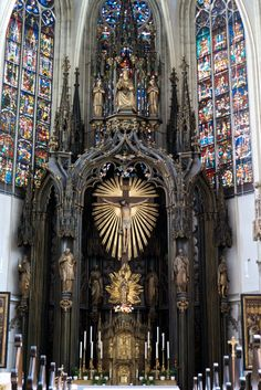 High Altar of the Maria am Gestade,  Vienna, Austria