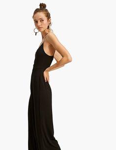 35853179114f Ολόσωμη φόρμα με τιράντες σε στυλ culotte - Φορεματα