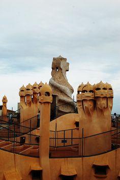 Casa Mila - La Pedrera by Antoni Gaudí, Barcelona, Spain