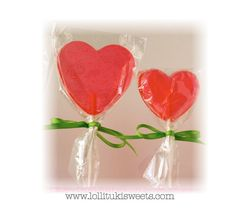 1/2 dozen of Red Heart Lollipops 2 or 2.5 by lollitukisweets