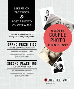 facebook contest! Email Marketing Strategy, Online Marketing, Social Media Marketing, Email Design Inspiration, Social Media Content, Facebook Instagram, Social Platform, Letting Go, Communication