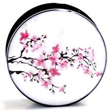 PAIR- ASIAN CHERRY BLOSSOM- Ear Gauges-Ear Gauges-Ear Plugs-Flesh Tunnels