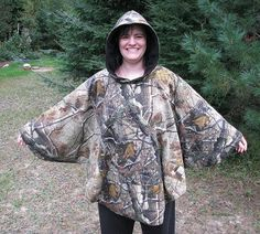 Reversable Hooded Poncho Realtree Camouflage and by adfabinidaho, $88.00