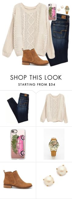 """so excited for Christmas❤️"" by mmorgann ❤ liked on Polyvore featuring American Eagle Outfitters, Casetify, Urban Outfitters, Lucky Brand and Kate Spade"