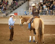 Sibbea Browning and her horse Chase at the NW Horse Fair and Expo in the Chris Cox Clinic
