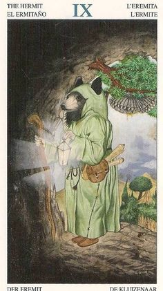 The Hermit...Tarot Of The Animal Lords by Angelo Giannini
