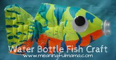 Reuse a Plastic Water Bottle to make a very unique fish to display at home or school.