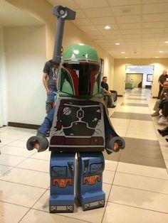 DIY Lego Boba Fett Costume (Kids), out of cardboard