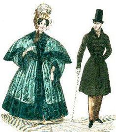 La manera de vestir masculina será austera, rígida y oscura y se opone en todos los aspectos la traje femenino, que seguirá siendo el único marcado por el color y la frivolidad.