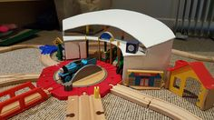 DIY tidmouth sheds Thomas the tank engine, glue gun for sale sign and popsicle sticks.