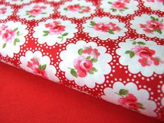 PURE COTTON RED floral