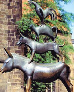 Er was eens... de sprookjesroute van Grimm - Standbeeld van de Bremer straatmuzikanten