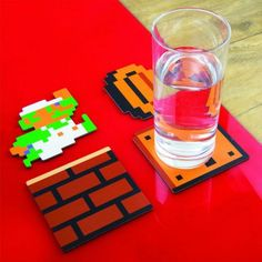 FOR THE HOME :: Mario Coasters - Shut Up And Take My Money Store!