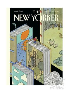 "The New Yorker - Monday, August 10 & 2015 - Issue # 4602 - Vol. 91 - N° 23 - Cover ""Summer Adventures"" by Joost Swarte The New Yorker, New Yorker Covers, Illustrations, Graphic Illustration, Capas New Yorker, Art Postal, Ligne Claire, Bd Comics, I Love Books"