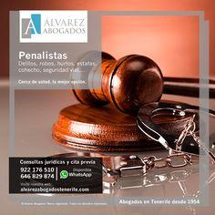Abogados Derecho Penal Tenerife: Delitos, robos, hurtos, estafas, cohecho, delitos seguridad vial,… Más información: https://alvarezabogadostenerife.com/?p=13089