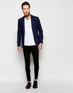 Jack & Jones Pique Blazer In Slim Fit