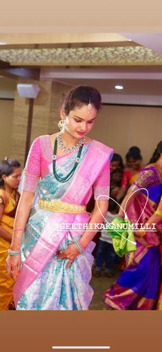 Pattu Saree Blouse Designs, Half Saree Designs, Bridal Blouse Designs, Blouse Neck Designs, Dress Designs, Indian Bridal Fashion, Indian Wedding Outfits, Indian Outfits, Mom Jewelry