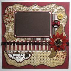 My Mind's Eye Christmas Layout #scrapbook #layout #papercraft