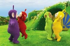 THE TELETUBBIES: Tinky Winky, Po, Dipsy, and Lala.  Throwback Photos of Iconic Hollywood - Zimbio