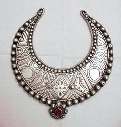 Northern Pakistan | An old young girl's silver neck ring from the Swat Valley | 165$