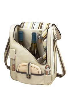PICNIC AT ASCOT  2-Bottle Wine & Cheese Cooler with Glasses