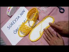 Tığ İşi Sandalet Patik Yapımı - YouTube