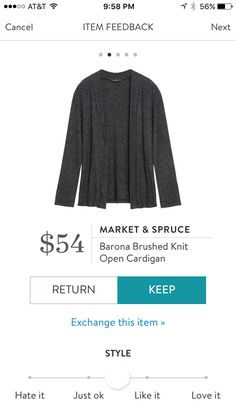 "Kelly-An open front knit cardigan like this one in navy (first choice), charcoal or black would be a great staple for fall! I like that this one just has a straight hem. The ""cocoon"" style ones look so awkward on me!"