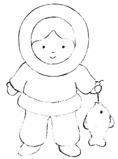eskimo coloring pages 7.gif (409×554)