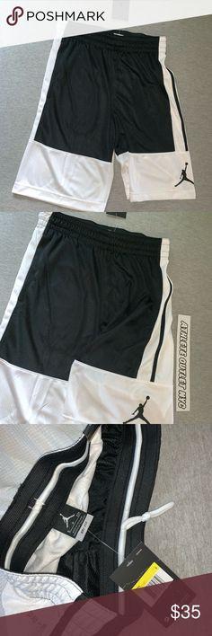 8fb226049c6322 New Air Jordan Shorts Black White Mens Size Small New ! Nike Air Jordan  Basketball Shorts