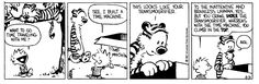 Image result for calvin and hobbes time machine homework