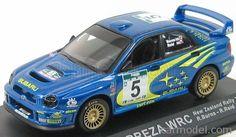 EDICOLA 100AC001 Масштаб 1/43  SUBARU IMPREZA WRC N 5 RALLY NEW ZEALAND 2001 R.BURNS - R.REID BLUE MET