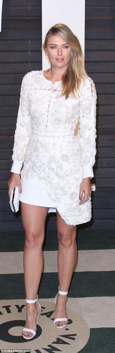 Maria Sharapova pictured at the 2016 Vanity Fair Oscars party in February 2016 Maria Sharapova Hot, Sharapova Tennis, Maria Sarapova, Fail Girl, Tennis Players Female, Tennis Stars, Beautiful Celebrities, Beautiful Women, Sport Girl