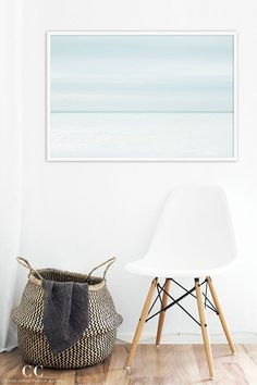"""Line on the Horizon No. 2"" - Large ocean wall art by Cattie Coyle Photography #largeart #coastaldecor #minimalist #scandinavian #cattiecoylephotography"