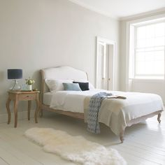Coco bed in our Natural cotton linen