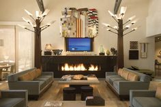 Retreat from the cold in these inviting spaces, perfect for Sunday night football, a Netflix binge, or entertaining.