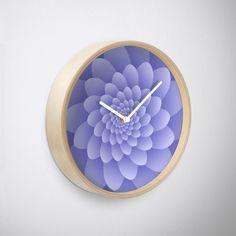Modern Purple Floral' Clock by Rizwana Khan Floral Clock, Purple Marble, 3 D, Wall Art, Modern, Home Decor, Trendy Tree, Decoration Home, Room Decor