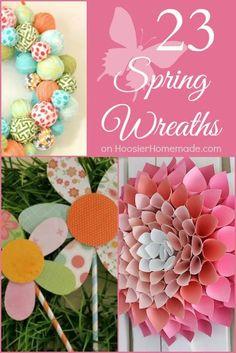 23 Spring Wreaths   on HoosierHomemade.com