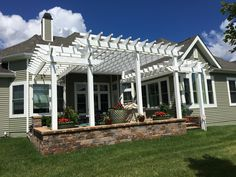 Vinyl Pergola, Yard, Outdoor Structures, Home, Patio, Ad Home, Yards, Homes, Houses