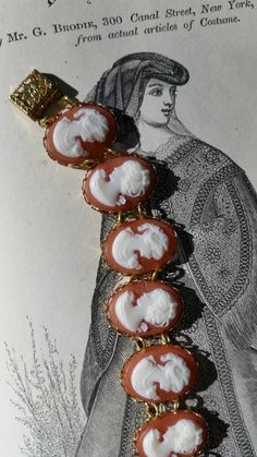 Victorian Style Cameo Bracelet Carnelian Cameo *Reproduction* - pinned by pin4etsy.com