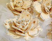Sofreh Aghd : Decorative Bread Flowers with Pearl and Silver Accents - Sold on Etsy for $12.95 - www.chicweddingboutique.etsy.com