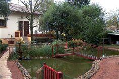 jardin. avec bassin d'eau